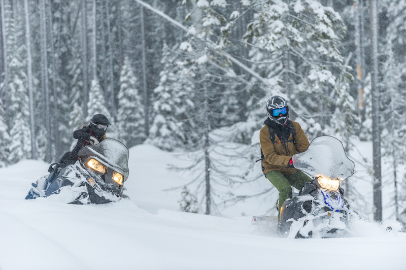 Snowmobiling through champagne powder is an experience unlike any other!