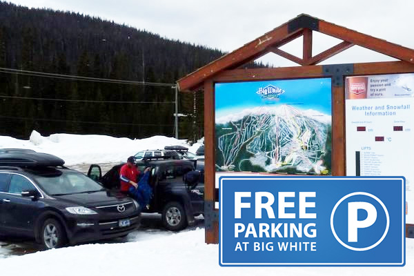 Free parking at Big White