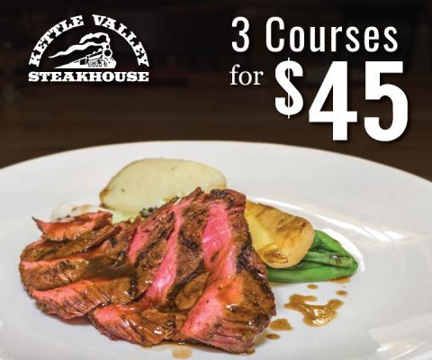 3 Courses for $45 at KVSH